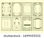 european luxury decorative...   Shutterstock .eps vector #1699455523