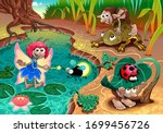 Fairy And Gnomes Playing In The ...