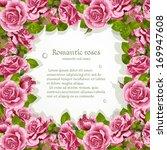frame from pink roses   Shutterstock .eps vector #169947608