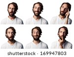 bearded man collage  6...   Shutterstock . vector #169947803