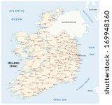 ireland road map | Shutterstock .eps vector #169948160