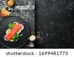 salted fish salmon with lemon...