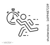 fast pace runner icon  man...   Shutterstock .eps vector #1699487239