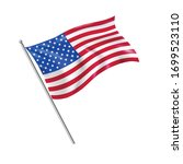 American National Flag With Wave