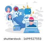 hackers and cyber criminals... | Shutterstock .eps vector #1699527553