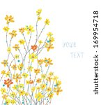 daffodils floral graphic... | Shutterstock .eps vector #169954718
