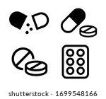 pill icons set medicament symbol | Shutterstock .eps vector #1699548166