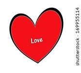red heart   valentine | Shutterstock . vector #169955114