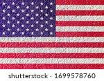 Abstract Image Of Usa Flag On...