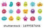 coronavirus monster design...   Shutterstock .eps vector #1699587646