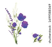 wildflowers. bouquets of...   Shutterstock .eps vector #1699588369