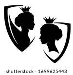 beautiful queen or princess...   Shutterstock .eps vector #1699625443