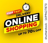 free fast delivery online... | Shutterstock .eps vector #1699627873