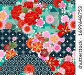 seamless spring japanese...   Shutterstock .eps vector #1699648753