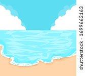 blue ocean and blue sky | Shutterstock .eps vector #1699662163