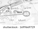nax on a geographical map of... | Shutterstock . vector #1699669729