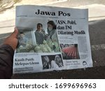 jawa pos newspaper news in the... | Shutterstock . vector #1699696963