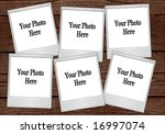 multiple instant photo film... | Shutterstock . vector #16997074