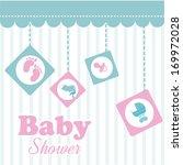 baby design over blue ... | Shutterstock .eps vector #169972028