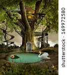 Tree House In An Enchanted...