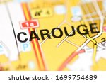 Carouge on a geographical map of Switzerland