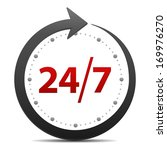 open around the clock or 24...   Shutterstock .eps vector #169976270