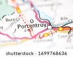 Porrentruy on a geographical map of Switzerland