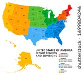 united states  census regions... | Shutterstock .eps vector #1699804246