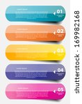 infographic business template... | Shutterstock .eps vector #169982168