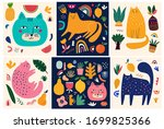 cute spring collection with...   Shutterstock .eps vector #1699825366