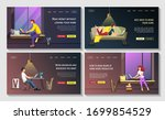 set of web page design... | Shutterstock .eps vector #1699854529
