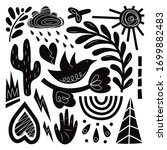 a large set of hand drawn... | Shutterstock .eps vector #1699882483