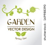 garden design over gray... | Shutterstock .eps vector #169988390