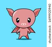 Cute Pig Character  Animal...