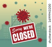 entire cities are shutting down ...   Shutterstock .eps vector #1699943200
