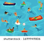 summer pool party poster  ... | Shutterstock .eps vector #1699949806