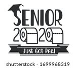 seniors class of 2020 lettering ... | Shutterstock .eps vector #1699968319