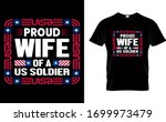 proud wife of a us soldier wife ... | Shutterstock .eps vector #1699973479
