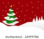 a winter vector background...   Shutterstock .eps vector #16999786