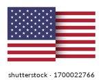 stylized american flag. vector... | Shutterstock .eps vector #1700022766
