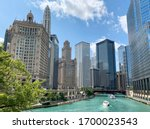 Chicago Cityscape And Chicago...