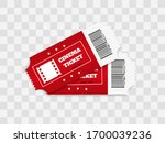 tickets isolated on white... | Shutterstock .eps vector #1700039236