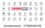 volunteering  charity icons.... | Shutterstock .eps vector #1700040190