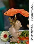 A Golden Fish Carved Out Of A...