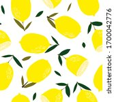 lemons seamless pattern. lemon... | Shutterstock . vector #1700042776