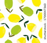 lemons seamless pattern. lemon... | Shutterstock . vector #1700047360