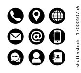 website icon set. contact icon... | Shutterstock .eps vector #1700050756