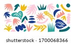 set of hand drawn shapes and... | Shutterstock .eps vector #1700068366