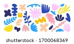 set of hand drawn shapes and... | Shutterstock .eps vector #1700068369