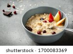 Oatmeal Porridge With Pieces Of ...